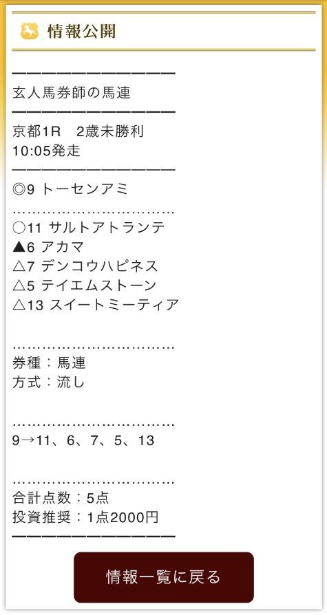 MAIN(メイン)11月18日無料予想馬連