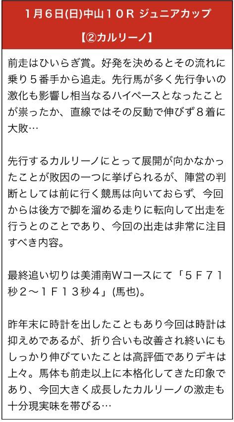 勝馬の栞1月6日無料予想
